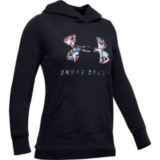 Girls' UA Rival Print Fill Logo Hoodie
