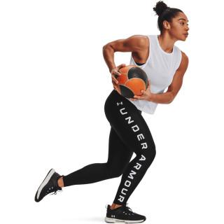 Women's HeatGear® Armour No-Slip Waistband Branded Full-Length Leggings