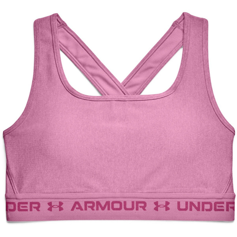 Women's Armour® Mid Crossback Heather Sports Bra